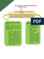 La Relacion Entre La Conducta y La Actuación Profesional Del Contador Público