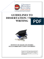 Thesis Guidelines for AR
