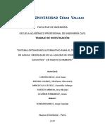 """""""Sistema Optimizado Alternativo de Tratamiento de Aguas Residuales en La Laguna de Oxidacion Las Gaviotas Nuevo Chimbote"""""""