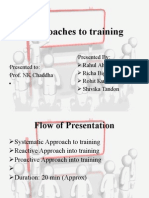 Approaches to Training