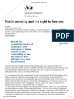Flavia Agnes on Public Morality and the Right to Free Sex
