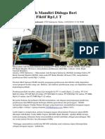 Bank Syariah Mandiri Diduga Beri Pembiayaan Fiktif Rp1