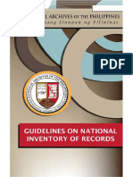 Inventory Guidelines