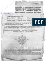 Felicitacion del Supremo Consejo de México a las Grandes Logias de la República Mexicana (Puente de Alvarado número 90)