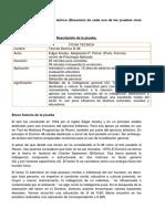 Ficha, Historia y Corrección Test TRF, D-48, RAVEn y Otros