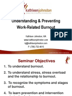CX12 P Johnston Understanding and Preventing Work Related Burnout