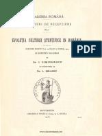 Evoluția Culturii Științifice În România [1913].pdf