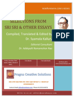 Selections From Sri Sri and Other Essays_Dr Kallury Syamala