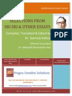 Selections From Sri Sri and Other Essays_Dr Kallury Syamala