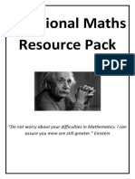 Additional Maths Resource Pack2