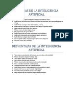 Ventajas de La Inteligencia Artificial
