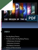 TOPIC 01 the Origin of the Universe