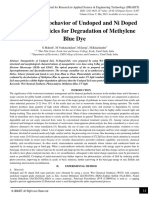 Photocatalytic behavior of Undoped and Ni Doped ZnS Nanoparticles for Degradation of Methylene Blue Dye