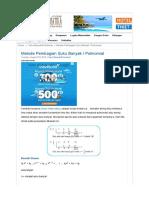 materi polinomial