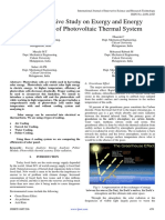 Comprehensive Study on Exergy and Energy Efficiencies of Photovoltaic Thermal System 1