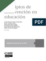Principios de Intervención en Educación. Módulos UOC