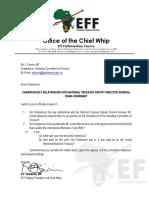 Brief van Floyd Shivambu aan Yunus Carrim
