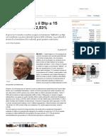 Il Tesoro Emette Il Btp a 15 Anni, Rendita Al 2,53% - Repubblica