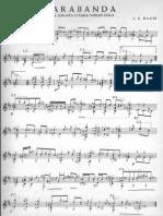 Bach-Llobet. Sarabanda.Partita I BWV 1002