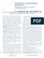 Residenza Universitaria Biomedica del Collegio S. Caterina da Siena -Università di Pavia BANDO 2018-2019