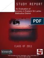Post-war recovery in Eastern Sri Lanka - Batticaloa District | Field Report