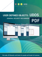 ERP One UDO Security Recommendations