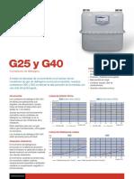 Especificaciones de Medidores G25,G40