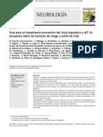 Guía Para El Tratamiento Preventivo Del Ictus Isquémico y AIT (I) Actuación Sobre Los Factores de Riesgo y Estilo de Vida