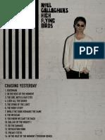 Chasing Yesterd - Booklet