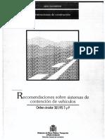 321_1995_Recomendaciones sobre Sistemas de Contención de Vehículos