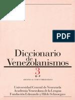 Diccionario de Venezolanismos. Tomo 3, Q-Z