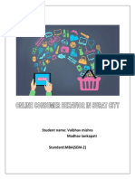 A Study on Online Consumer Behivior in Surat City