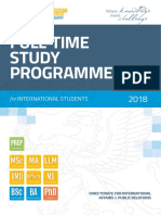 Szte Full Time Study Programmes 2018 Final