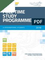 Szte Full Time Study Programmes 2018 Final