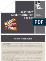 Tv Advertising for Galaxy chocolate