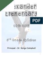 third grade syllabus 18-19