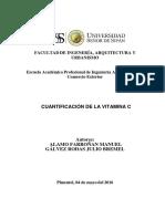 Cuantificacion Vitamina C