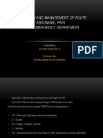 Evaluation and Management of Acute Abd