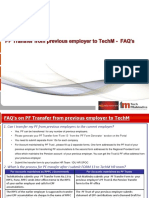 PF Transfer From Previous Employer to TechMahindra FAQs