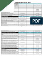 Calendario Academico 2018 Aprobada Consejo Academico 18-01-18