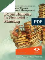 BCom Hons_Fin Plan