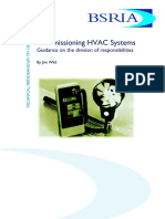 Commissioning Hvac Systems Guidance on the Division of Responsibilities (Sample)