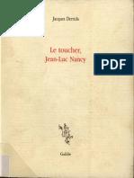 (Incises) Jacques Derrida-Le Toucher, Jean-Luc Nancy-Éditions Galilée (2000)