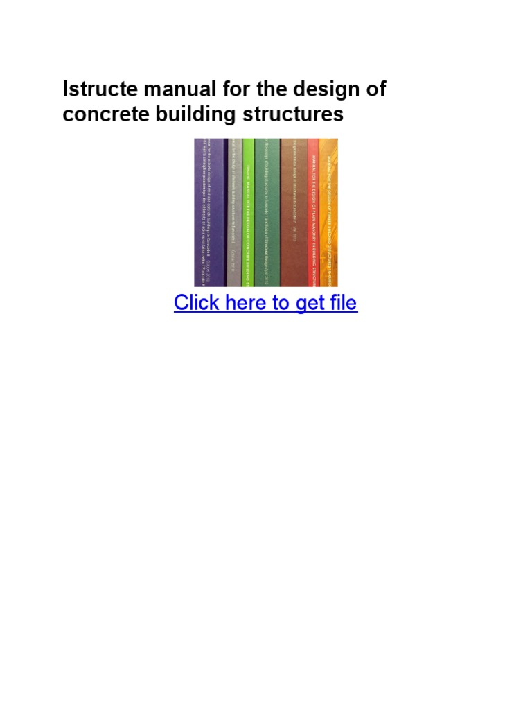 Istructe manual array istructe manual for the design of concrete building structures rh es scribd com fandeluxe