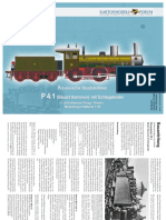 Prussian P 4.1 Steam Locomotive Train Paper Model