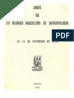 Aba - Anais Da III Rba. Loureiro Fernandes, José - Os Índios Da Serra Dos Dourados