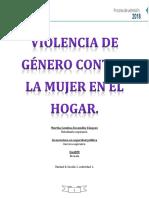Trabajo Final Violencia de Género Contra La Mujer en El Hogar