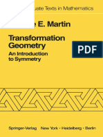 George E. Martin Transformation Geometry an Introduction to Symmetry