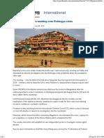 Myanmar Holds Rare Meeting Over Rohingya Crisis