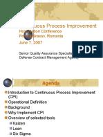1 Continuous Process Improvement